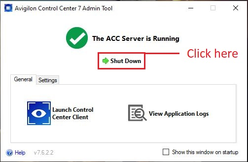 ACC 7 Control Center 7 Admin Tool