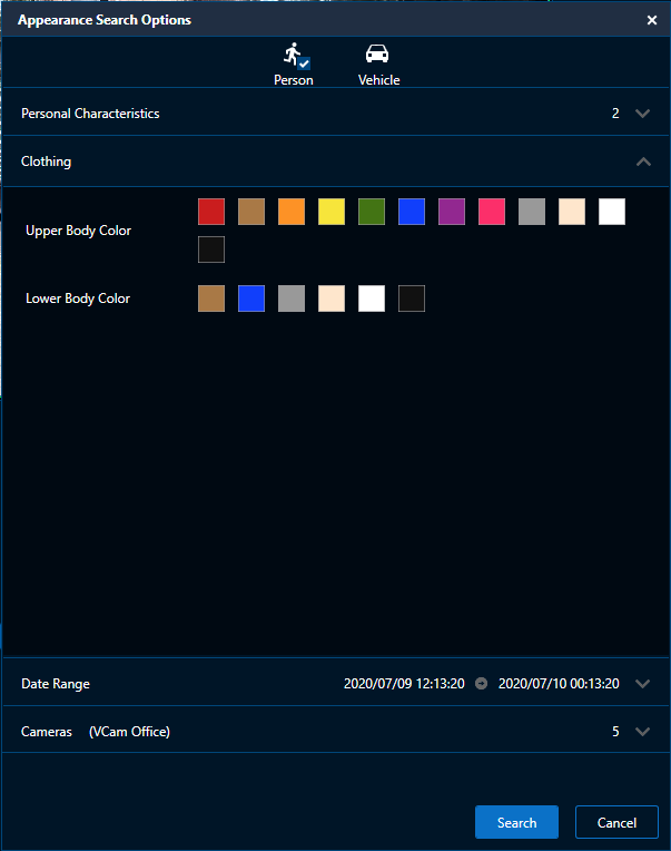Appearance Search Based on Clothing