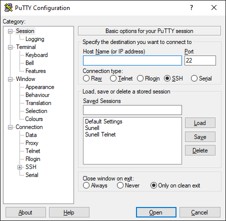 PuTTY - A common utility for CCTV professionals